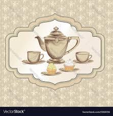 vintage tea cup vector.  Vector In Vintage Tea Cup Vector T