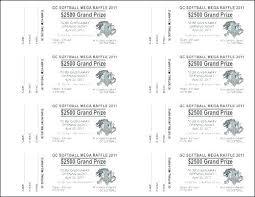 Template For Raffle Tickets To Print Free Raffle Ticket Template Tickets With Tear Away Stubs Inches X Stub