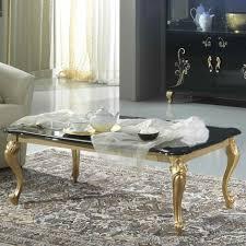 sergio black gold coffee table