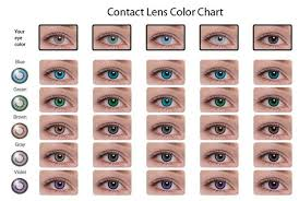 Contact Lenses Colour Chart Contacts Color Chart Colored Contacts Coloured Contact