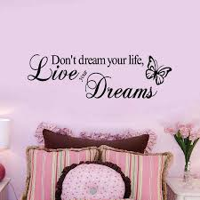 Dont Dream Your Life Butterfly Creative Wall Decals 8142 Inspirational Quotes Decorative Vinyl Wall Stickers Home Decor