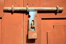 old fashioned door lock the old style of door lock stock image image of design old fashioned door lock