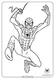 Print spiderman coloring pages for free and color our spiderman coloring! Spiderman Coloring Pages Hanging From Web