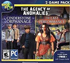 The agency of anomalies 2 game pack cinderstone orphanage + last performance hidden object pc game. Amazon Com Big Fish Games For Pc Hidden Object