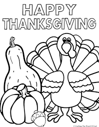 Small Picture Happy Thanksgiving 2 Coloring Page Crafting The Word Of God