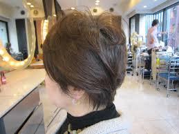 60代ショートスタイル 着物用襟足 40代50代60代髪型表参道美容室青山
