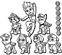 Small Picture Best Cartoon Character Paw Patrol Coloring Pages Free 84 Printable