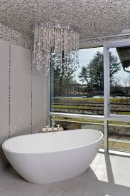ikea crystal chandelier bathroom contemporary with tile stripe for stylish house bathroom crystal lighting prepare