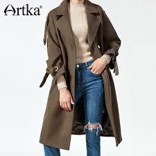 2019 <b>Artka 2017 Autumn&Winter</b> Vintage Elegant Long To Knee ...