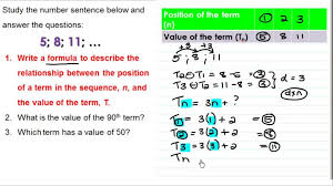Grade The Rules For Number Patterns Grade 9 Youtube Maths ...