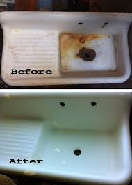a fifty dollar craigslist farmhouse style cast iron enamel sink refinished for only 225