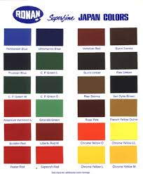 Pactra Paint Chart Ronan Paints Paint Color Chart Car Paint Colors Color