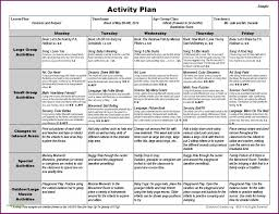 Lesson Plans Template Free Pre K Weekly Lesson Plan Template Format Sample Free