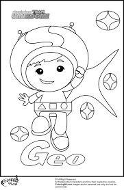 Small Picture Team Umizoomi Coloring Pages Umizoomi Geo Colouring Pages