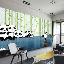 Captivating Panda Wallpaper For Bedroom Custom Modern Simple Panda Animal Children Room  Theme Panda Wallpaper Bedroom