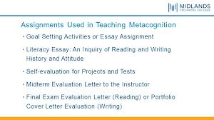 nade conference ppt video online  assignments used in teaching metacognition