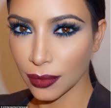 it is a blue smokey eye with a deep dark red lip