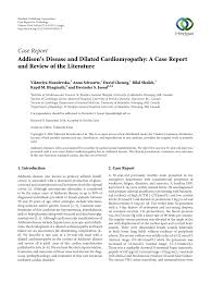 Voir plus d'idées sur le thème instagram, combishort rouge, adolescents sexy. Pdf Addison S Disease And Dilated Cardiomyopathy A Case Report And Review Of The Literature