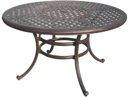 darlee outdoor living series 30 cast aluminum antique bronze 52 round dining of cast aluminum patio table