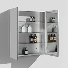 Aluminium Bathroom Cabinets Shaving Cabinet 60cm Bath Mirror Aluminium Frame