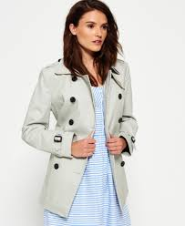 sentinel new womens superdry summer belle trench coat stone