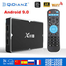 x96h TV BOX Smart 6K Ultra HD 4+32G Android 9.0 Movie TV Receiver WIFI  Google Cast Netflix Media Player IPTV Set top Box X96 H|Set-top Boxes