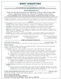 Event Coordinator Resume Page 1 Of 2 2 Event Coordinator Job ...