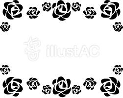 黒バラの飾り枠イラスト No 832276無料イラストならイラストac