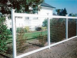 Wire Fence with Painted Wood Posts Wire Fencing Pinterest Wire