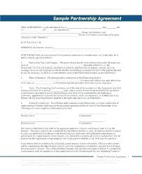 Sample Partnership Agreement Form Exclusive Partnership Agreement Template Merrier Info