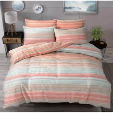 luxury ombre stripe peach duvet set reversible quilt cover bedding double 267063 p5598 15338 image jpg
