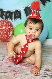 Amazoncom Baby Boy First Birthday Cake Smash Outfit In Red And