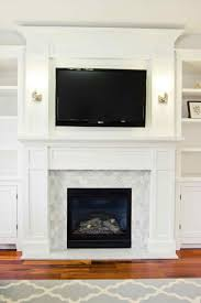 also white marble subway tile fireplace surround fireplace with tile surround and black hearth also brick