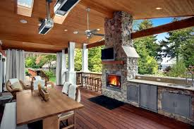 stone barbecue fireplace the highlight in the garden interior rh ofdesign net bbq and fireplace