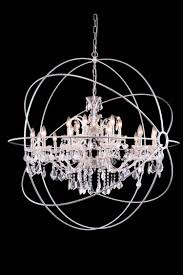 urban classic 18 light 46 polished nickel iron large orb crystal chandelier