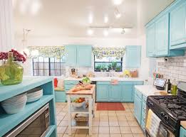 adorable light blue kitchen cabinet for white kitchen with track lighting
