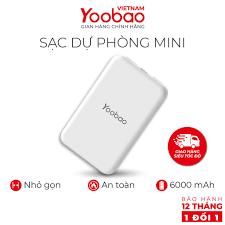 Sạc dự phòng mini 6000mAh Yoobao P6W - Hàng chính hãng - Bảo hành 12 tháng  1 đổi 1 giá cạnh tranh