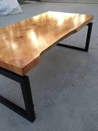 modern floating live edge wood slab