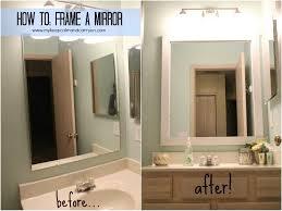 wood mirror frame ideas. Frames For Bathroom Mirrors Framed Austin Tx 2018 With Fascinating Bathrooms Design Mirror Wood Ideas Frame