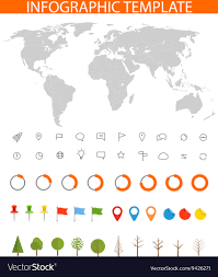 Different Charts Infographics Earth Map And Different Charts And