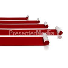 carpet roll clipart. id# 5596 - red carpet rolls presentation clipart roll n