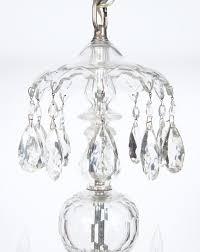 george iii style cut glass six light chandelier