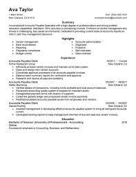 Accounts Payable Resume 9 Create My Techtrontechnologies Com