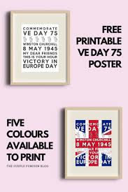 Browse through our wide range of professionally designed templates. Free Printable Ve Day Decorations Stay Home Party May 8 10