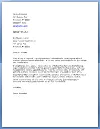 30 Cover Letter For Medical Job 6 Example Of Medical Assistant