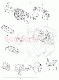 Steering column switch and trim
