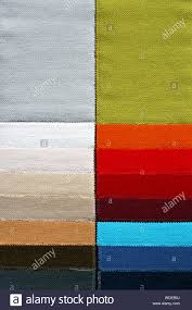 Decorative And Fashion Textile Cloth Color Chart Stock Photo