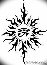 черно белый эскиз тату рисункок солнце 11032019 050 Tattoo