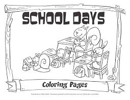 School House coloring pages, Coloring for kids, School Day Free ...