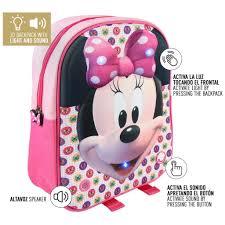 Disney Minnie Mouse Rugzak Met Licht En Geluid 24x30x9 Cm Roze